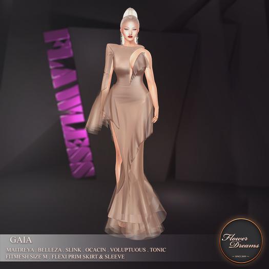 .:FlowerDreams:.Gaia Gown - bronze