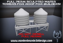 ~Full perm sculpted water tower / water tank for roof + Maps!