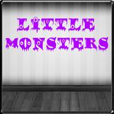*~LT~* LITTLE MONSTERS Wall Art Decal
