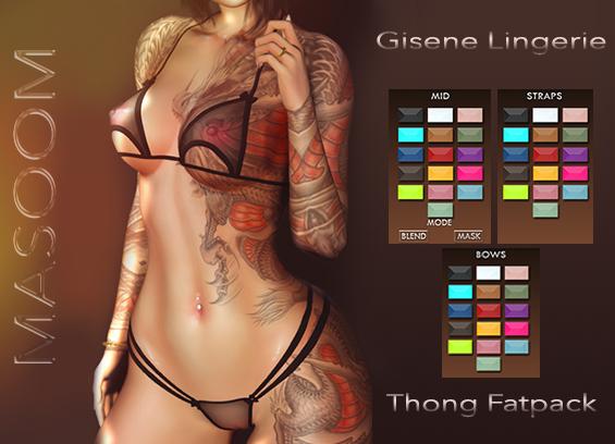 [[ Masoom ]] Gisene- Thong - FATPACK - Legacy Perky, Legacy, Lara, Lara Petite, Freya