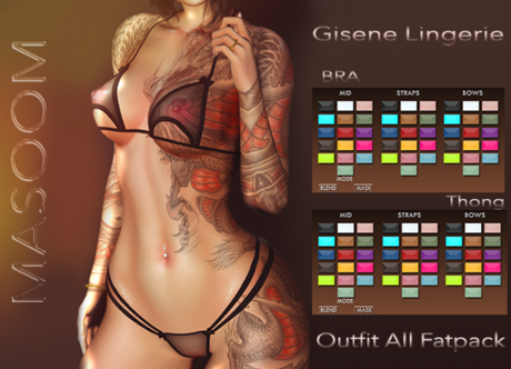 [[ Masoom ]] Gisene- Outfit ALL FATPACK - {Addme}