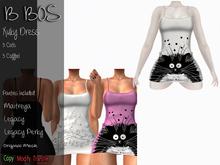 B BOS - Xuky Dress - Cats White - (Add me)