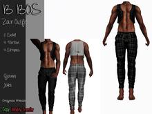 B BOS - Zair Outfit - Tartan Black - (Add me)