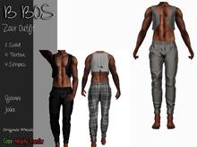 B BOS - Zair Outfit - Striper Gray - (Add me)