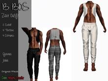 B BOS - Zair Outfit - Striper White - (Add me)