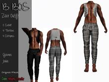 B BOS - Zair Outfit - Tartan Gray - (Add me)