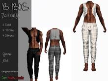 B BOS - Zair Outfit - Tartan White - (Add me)