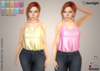 :: AC ::  Mollie - Silk Cami Top with HUD - Sunshine