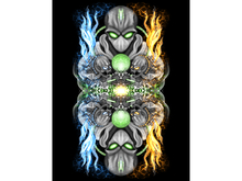 Fire & Ice Alien Art Canvas_Black