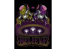 Believe Aliens Art Canvas
