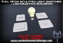 ~Full perm Light switches + Light bub + Maps and texture! 1 Prim each