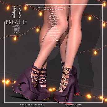 [BREATHE]-Takumi Wedges-Black-M.LARA RARE
