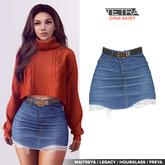 TETRA - Dina - denim ripped skirt (Light blue)