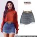 TETRA - Dina - denim ripped skirt (Faded)