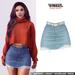 TETRA - Dina - denim ripped skirt (Arctic)
