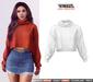 TETRA - Dina - turtleneck knit sweater (White)