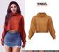 TETRA - Dina - turtleneck knit sweater (Mustard)