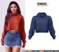 TETRA - Dina - turtleneck knit sweater (Indigo)