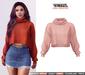 TETRA - Dina - turtleneck knit sweater (Blush)