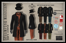 PIXEL BOX - Steampunk  Mens Magician Outfit  Fitmesh