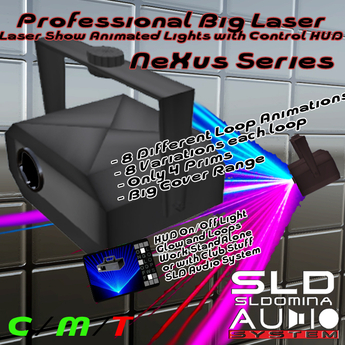 NEW 2021 Nexus DJ Series - Big Laser Show Light effects with Animated Ray Light Hud Controlled Moving head Only 4 Prims
