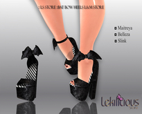 :: LS STORE :::Bat Bow Heels  Black L&M Store