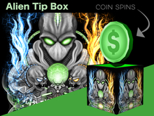 Tip Jar - Alien Coin Spin Tip Jar Box - *Tip Jar*