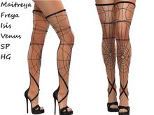 ~PP~ Black Spider Web Boots