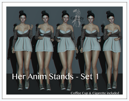 Gravity Poses  -  Her Anim Stands Set 1