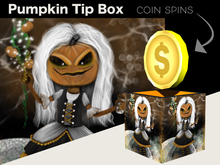 Halloween Tip Jar - Pumpkin Maid Coin Spin Tip Jar Box