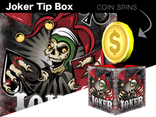 Tip Jar - Poker Joker Skull Coin Box - *TIP JAR*