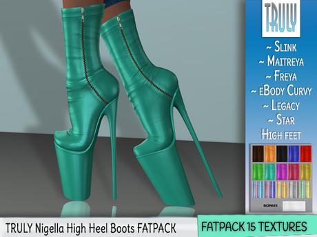 TRULY Nigella High Heel Boots FATPACK