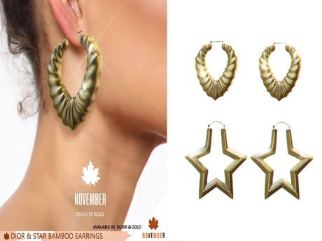 Nov-Star Bamboo Earrings (G)