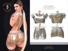 [Nocturnal Couture] Asami Collection Top & Skirt - Silver
