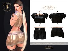 [Nocturnal Couture] Asami Collection Top & Skirt - Black V2