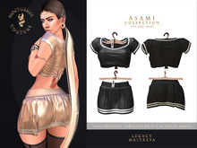 [Nocturnal Couture] Asami Collection Top & Skirt - Black