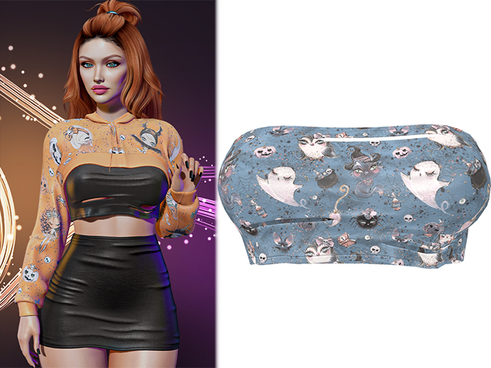!PCP :: Anya Crop Top [Witchy Boos]