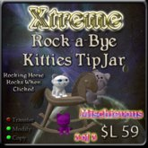 Rock-a-Bye Kitties TipJar - Mischievous -