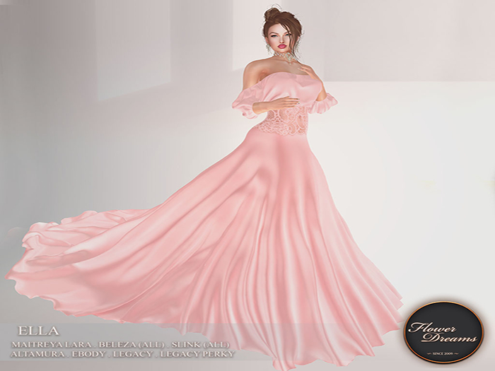 .:FlowerDreams:. Ella Gown - blush Demo