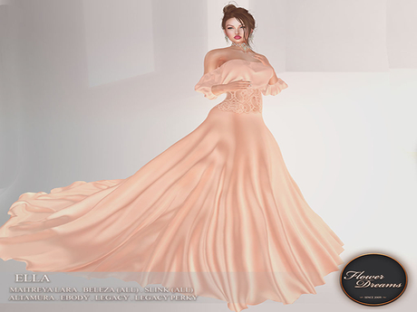 .:FlowerDreams:. Ella Gown -  peach blossom