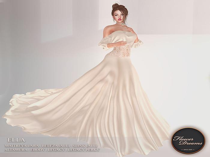 .:FlowerDreams:. Ella Gown - champagne