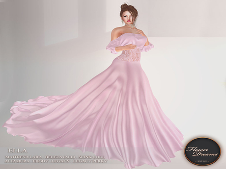 .:FlowerDreams:. Ella Gown - pink Demo
