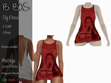 B BOS - Elly Dress - Print Red - (Add me)