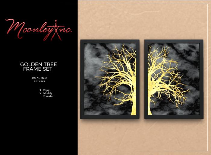 Moonley Inc. - Golden Tree Frame Set