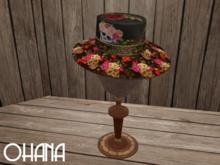 Ohana Skulls and Roses Hat (WEAR TO UNPACK)