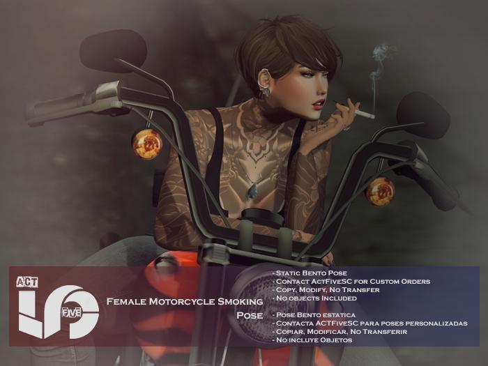 ACT5-580-Female Motorcycle Smoking Pose BOXED