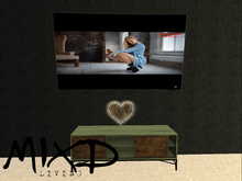 MIXD living - Tv, Heart and Retro Steel TV Stand
