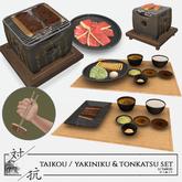 taikou / yakiniku and tonkatsu set (food only)