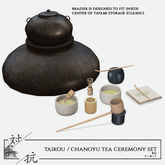 taikou / chanoyu tea ceremony set