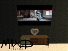 MIXD Living - TV, Heart and Retro green TV Stand